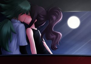 Rating: Safe Score: 72 Tags: brown_hair green_hair kiss male moon n night pokemon ponytail ricegnat touko_(pokemon) User: mattiasc02