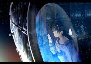 Rating: Safe Score: 83 Tags: green_eyes kurono-kuro original short_hair space tears User: Flandre93