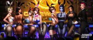 Rating: Safe Score: 415 Tags: animal_ears ass black_hair blonde_hair blue_eyes blue_hair bow braids breasts brown_eyes brown_hair bunnygirl cleavage collar dark_skin drink d.va elbow_gloves glasses gloves green_eyes group hat headband headdress liang_xing long_hair mei_(overwatch) mercy_(overwatch) overwatch pantyhose pharah_(overwatch) pink_hair ponytail realistic scar short_hair shorts stockings symmetra tail tattoo thighhighs tie tracer widowmaker wristwear yellow_eyes zarya User: RyuZU