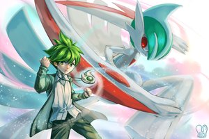 Rating: Safe Score: 34 Tags: all_male gallade green_eyes green_hair male mega_gallade necklace pokemon red_eyes sa-dui short_hair signed wally watermark User: mattiasc02