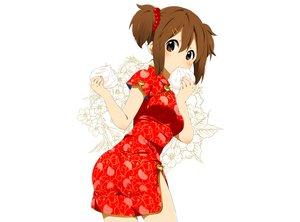 Rating: Safe Score: 96 Tags: brown_eyes brown_hair chinese_clothes food hirasawa_yui k-on! ragho_no_erika white User: C4R10Z123GT