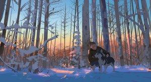 Rating: Safe Score: 89 Tags: animal dog original snatti snow tree winter User: Flandre93