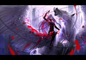 Rating: Safe Score: 159 Tags: animal blood fate_(series) fate/stay_night horse kzcjimmy pegasus rider User: FormX