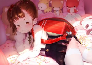 Rating: Questionable Score: 53 Tags: ass bed blush hideousbeing loli original thighhighs User: FormX
