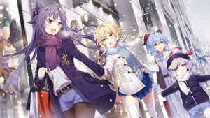 Rating: Safe Score: 91 Tags: blonde_hair building gabiran ganyu_(genshin_impact) genshin_impact horns keqing_(genshin_impact) loli long_hair lumine_(genshin_impact) pantyhose qiqi_(genshin_impact) scarf shorts skirt snow thighhighs twintails winter yellow_eyes User: BattlequeenYume