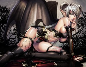 Rating: Questionable Score: 346 Tags: cameltoe demon horns panties pointed_ears sadakage thighhighs underwear wings User: yayanipon