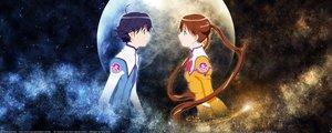 Rating: Safe Score: 3 Tags: dualscreen katase_shima moon otoyama_kouta uchuu_no_stellvia User: Oyashiro-sama