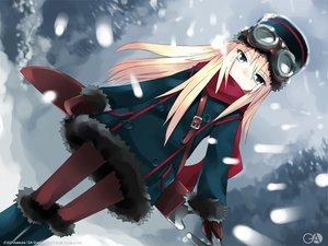 Rating: Safe Score: 52 Tags: blonde_hair blue_eyes gagraphic goggles hat logo long_hair scarf snow usatsuka_eiji watermark User: Oyashiro-sama