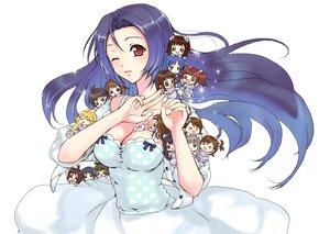 Rating: Safe Score: 76 Tags: akizuki_ritsuko akizuki_ryou amami_haruka blue_hair breasts chibi cleavage dress futami_ami futami_mami ganaha_hibiki hagiwara_yukiho hidaka_ai hoshii_miki idolmaster kabkin kikuchi_makoto kisaragi_chihaya long_hair male minase_iori miura_azusa mizutani_eri red_eyes shijou_takane takatsuki_yayoi twins wink User: FormX