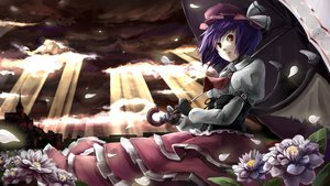 Rating: Safe Score: 35 Tags: flowers gloves nishiuri petals remilia_scarlet touhou wings User: SciFi