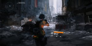 Rating: Safe Score: 171 Tags: building city combat_vehicle gun hat hoodie mivit snow tom_clancy's_the_division weapon User: Flandre93