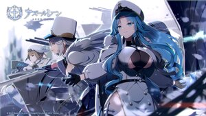 Rating: Safe Score: 29 Tags: anthropomorphism azur_lane blue_eyes blue_hair breasts brown_eyes brown_hair cleavage gloves gray_hair gremyashchy_(azur_lane) hat kirov_(azur_lane) logo long_hair pantyhose red_eyes short_hair snow sovetskaya_belorussiya_(azur_lane) sword tagme_(artist) uniform weapon User: Nepcoheart