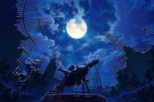 Rating: Safe Score: 41 Tags: clouds mocha_(cotton) moon night original ruins scenic signed sky stars User: FormX