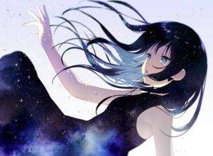 Rating: Safe Score: 86 Tags: achiki black_hair blue_eyes dress long_hair original space stars User: RyuZU