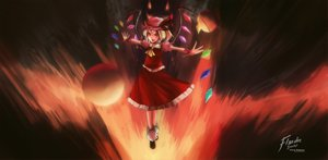 Rating: Safe Score: 61 Tags: blonde_hair clear_echoes dress flandre_scarlet hat red_eyes signed touhou vampire wings User: ANIMEHTF