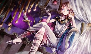 Rating: Safe Score: 145 Tags: all_male blue_eyes eim_(gaziko) long_hair magi_the_labyrinth_of_magic male pink_hair smoking sword titus_alexius weapon User: STORM