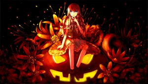 Rating: Safe Score: 138 Tags: blue_eyes dead_line flowers halloween kirisame_marisa long_hair pumpkin red skirt touhou User: RyuZU