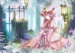 Rating: Safe Score: 45 Tags: blush dress hat long_hair patchouli_knowledge purple_eyes purple_hair touhou User: SciFi