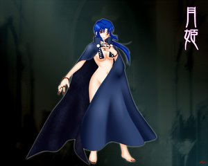 Rating: Questionable Score: 30 Tags: barefoot blue_hair cape ciel long_hair red_eyes shingetsutan_tsukihime User: Tensa
