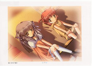 Rating: Safe Score: 4 Tags: air long_hair michiru red_eyes red_hair short_hair tohno_minagi User: Oyashiro-sama