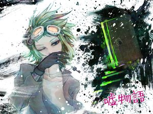 Rating: Safe Score: 72 Tags: blue_eyes green_hair gumi short_hair vocaloid User: HawthorneKitty
