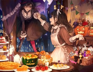 Rating: Safe Score: 69 Tags: 2girls apple apron blush bow brown_eyes brown_hair building cake candy city flowers food fruit goth-loli halloween hat headband kakmxxxny06 lolita_fashion lollipop long_hair night original pumpkin stockings witch witch_hat User: otaku_emmy