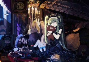 Rating: Safe Score: 168 Tags: bba_biao bunny dress goth-loli hatsune_miku headdress lolita_fashion long_hair teddy_bear twintails umbrella vocaloid User: RyuZU