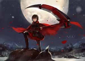 Rating: Safe Score: 281 Tags: cape cotta moon night petals ruby_rose rwby scythe weapon User: opai