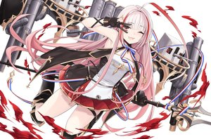 Rating: Safe Score: 29 Tags: anthropomorphism azur_lane boots gloves long_hair marble_(marblesized) pink_hair red_eyes spear vauquelin_(azur_lane) weapon white wink User: Nepcoheart