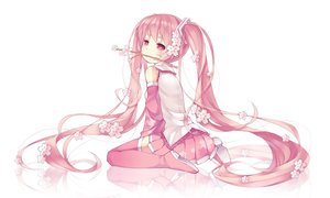 Rating: Safe Score: 91 Tags: hatsune_miku long_hair pink_eyes pink_hair sakura_miku saru twintails vocaloid User: FormX