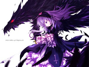 Rating: Safe Score: 76 Tags: cross dress feathers long_hair rozen_maiden suigintou third-party_edit wings User: tofutwins