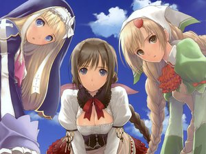 Rating: Safe Score: 153 Tags: airy amil breasts cleavage clouds neris nun shining_hearts tagme taka_tony User: Wiresetc