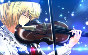 Rating: Safe Score: 94 Tags: blonde_hair hat lunasa_prismriver nekominase short_hair touhou violin User: ガラス