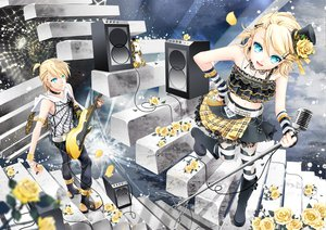 Rating: Safe Score: 56 Tags: cocoon guitar instrument kagamine_len kagamine_rin male microphone vocaloid User: HawthorneKitty