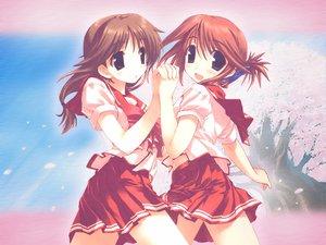 Rating: Safe Score: 17 Tags: amaduyu_tatsuki aquaplus blue_eyes komaki_ikuno komaki_manaka leaf school_uniform to_heart to_heart_2 User: Oyashiro-sama