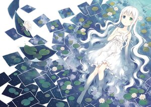 Rating: Safe Score: 54 Tags: 104 barefoot bicolored_eyes clouds dress flowers loli long_hair original polychromatic reflection sky summer_dress water white_hair User: BattlequeenYume