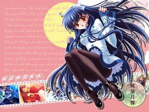 Rating: Safe Score: 28 Tags: blue_hair carnelian kawakabe_momoka long_hair red_eyes touka_gettan User: Oyashiro-sama