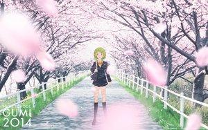Rating: Safe Score: 42 Tags: cherry_blossoms flowers gumi headphones petals school_uniform vocaloid User: FormX