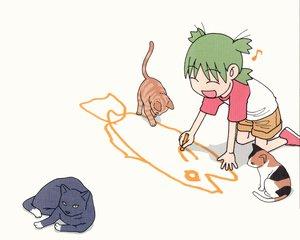 Rating: Safe Score: 16 Tags: animal azuma_kiyohiko cat koiwai_yotsuba white yotsubato! User: Oyashiro-sama