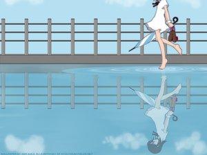 Rating: Safe Score: 21 Tags: bleach blue kubo_tite kuchiki_rukia umbrella water User: Oyashiro-sama