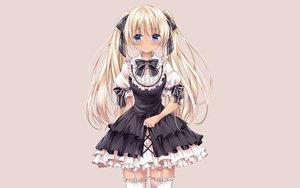 Rating: Safe Score: 102 Tags: aqua_eyes blonde_hair blush garter_belt goth-loli lolita_fashion long_hair nogi_takayoshi original ribbons thighhighs third-party_edit twintails waifu2x User: gnarf1975