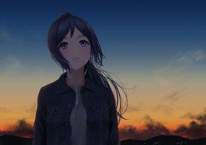 Rating: Safe Score: 133 Tags: blue_hair clouds dark headphones long_hair love_live!_school_idol_project love_live!_sunshine!! matsuura_kanan papi_(papiron100) purple_eyes sky sunset User: luckyluna