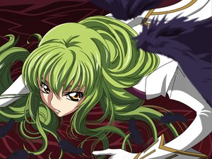 Rating: Safe Score: 40 Tags: cc code_geass feathers gloves green_hair long_hair tagme_(artist) wings yellow_eyes User: Oyashiro-sama