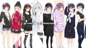 Rating: Safe Score: 103 Tags: akebono_(kancolle) ama_mitsuki anthropomorphism aqua_eyes bikini_top black_hair blonde_hair bow braids brown_eyes brown_hair collar fubuki_(kancolle) glasses group hat hibiki_(kancolle) hoodie i-13_(kancolle) kantai_collection long_hair satsuki_(kancolle) school_uniform sendai_(kancolle) shigure_(kancolle) short_hair skirt thighhighs twintails ushio_(kancolle) verniy_(kancolle) yellow_eyes User: RyuZU