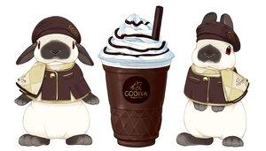 Rating: Safe Score: 18 Tags: animal cape chocolate drink hat lilac_(pfeasy) nobody original rabbit scarf white User: otaku_emmy