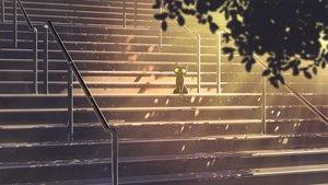 Rating: Safe Score: 12 Tags: animal cat mclelun nobody original scenic stairs watermark User: RyuZU
