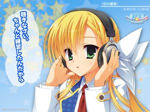 Rating: Safe Score: 62 Tags: blonde_hair green_eyes headphones kanemoto_akari kobuichi long_hair noble_works seifuku tie User: oranganeh
