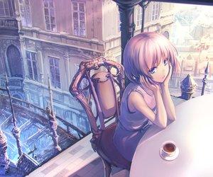 Rating: Safe Score: 60 Tags: blue_eyes drink original pink_hair short_hair tenmaso User: sadodere-chan