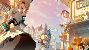 Rating: Safe Score: 52 Tags: animal_ears barbara_(genshin_impact) blonde_hair building catgirl cat_smile city clouds diona_(genshin_impact) flowers genshin_impact jean_gunnhildr long_hair magica ponytail signed sky tail twintails windmill User: BattlequeenYume