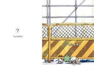 Rating: Safe Score: 9 Tags: animal azuma_kiyohiko cat koiwai_yotsuba white yotsubato! User: Oyashiro-sama